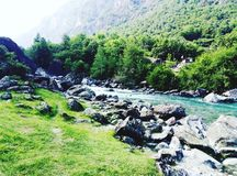 Zwitserse Rivier stock foto