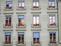 Zwitserse vensters Stock Fotografie