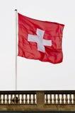 Zwitserse vlag Stock Afbeeldingen