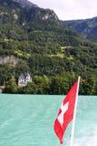 Zwitserse vlag Stock Foto's