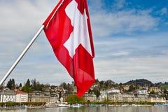 Zwitserse Vlag Royalty-vrije Stock Afbeeldingen