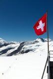 Zwitserse vlag Stock Fotografie