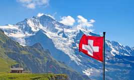 Zwitserse vlag Stock Foto
