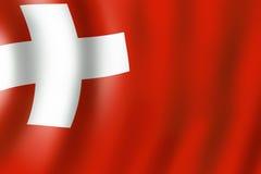 Zwitserse vlagachtergrond Stock Afbeelding