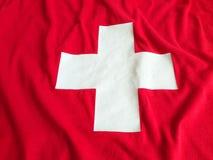 Zwitserse vlagachtergrond Royalty-vrije Stock Afbeeldingen