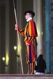 Zwitserse wacht in Vatikaan Stock Afbeelding