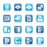 Związku, komunikaci i telefonu komórkowego ikony, Zdjęcie Stock