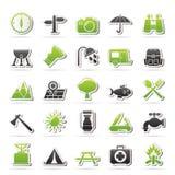 Związku, komunikaci i telefonu komórkowego ikony, Fotografia Stock