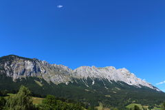 Zwoelfer mountaintop. View from the Zwoelfer mountaintop royalty free stock photo