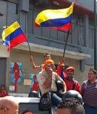 Zwolennicy Hugo Chavez Fotografia Royalty Free