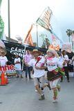 Zwolennicy i aktywista niecki ugrupowanie polityczne Zdjęcia Royalty Free