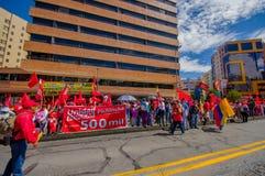 Zwolennicy Zrzeszeniowy Popularny przyjęcie uczestniczy obok Obraz Royalty Free