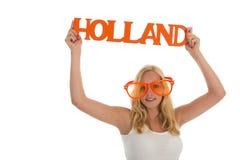 Zwolennik dla Holandia obraz royalty free