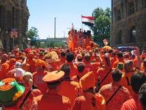 zwolennik holenderska futbolowa krajowa drużyna Fotografia Royalty Free