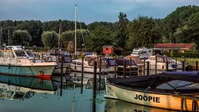 ZWOLLE, NETHERLANDS - JUNE 2018: Marina in Zwolle near the IJsselmeer, Netherlands Stock Photo