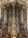 Schnitger organ in the Grote Kerk in Zwolle, Netherlands royalty free stock photography