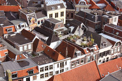 Zwolle upper view. Upper view over a small dutch town, Zwolle Stock Images