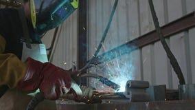 Zwolnione tempo spawacz spawalniczej budowy stalowe ramy zbiory