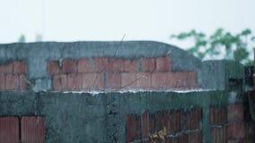 Zwolnione tempo ulewny deszcz i ekstremum pogoda zbiory