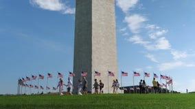 Zwolnione tempo ustanawia strzał turyści odwiedza bazę Waszyngtoński zabytek zdjęcie wideo