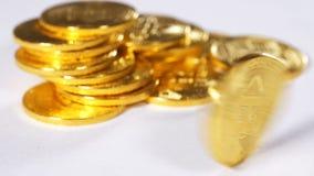 Zwolnione Tempo Wiruje wokoło osi monety Robić Jako Cryptocurrency