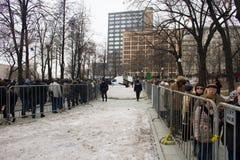 Zwrot pożegnalna ceremonia z politykami Boris Nemtsov Fotografia Royalty Free