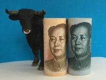 Zwyżkowy na chińczyku Juan Obraz Stock