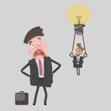 Zwyciężony biznesowy mężczyzna 3d royalty ilustracja