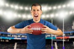 Zwyciężony gracz futbolu Fotografia Stock