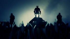 Zwycięski Wielki Viking wojsko Po wojny royalty ilustracja