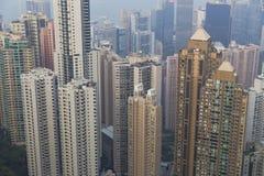 zwycięstwa miejsca Hong Kong obserwaci pokład Obrazy Stock