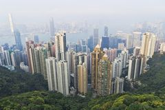 zwycięstwa miejsca Hong Kong obserwaci pokład Fotografia Stock