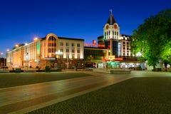Zwycięstwa (Pobedy) kwadrat w Kaliningrad Zdjęcia Royalty Free