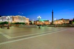 Zwycięstwa (Pobedy) kwadrat w Kaliningrad Zdjęcie Stock