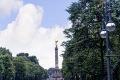 Zwycięstwa Siegessäule lub kolumna jesteśmy sławnym widokiem w Berlin Obraz Stock