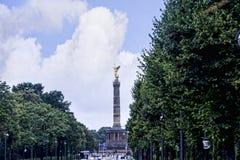 Zwycięstwa Siegessäule lub kolumna jesteśmy sławnym widokiem w Berlin Zdjęcia Royalty Free