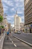 Zwycięstwo aleja, sławna ulica Bucharest, Ro (Calea Victoriei) Obraz Royalty Free