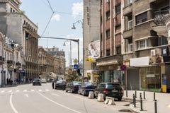 Zwycięstwo aleja W Bucharest Fotografia Royalty Free