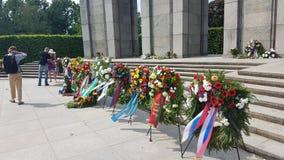 Zwycięstwo dnia świętowanie upamiętnia poddanie Nazistowski Niemcy obraz stock