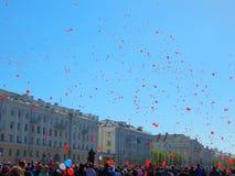 Zwycięstwo dnia świętowanie w Rosja zdjęcia stock