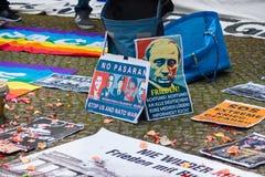 Zwycięstwo dzień &-x28; 9 May&-x29; w Treptower parku berlin Germany Zdjęcie Stock