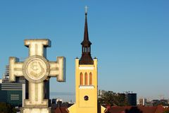 Zwycięstwo kolumna w Tallinn, Estonia zdjęcia royalty free