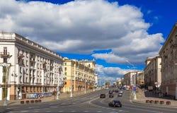 Zwycięstwo kwadrat, Minsk, Białoruś, Obrazy Royalty Free