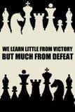 Zwycięstwo porażka Zdjęcie Stock