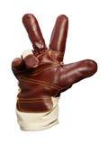 zwycięstwo rękawiczkowa praca Obraz Royalty Free