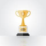 Zwycięzca brązowa filiżanka, na trzecim miejscu Zdjęcia Royalty Free
