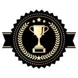 Zwycięzca filiżanki emblemat Fotografia Royalty Free