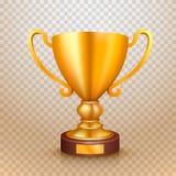 Zwycięzca filiżanki złota znak zaciemnia ilustracja wektor