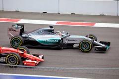 Zwycięzca Lewis Hamilton Formuła Jeden Sochi Rosja Fotografia Royalty Free