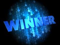 Zwycięzca na Ciemnym Cyfrowego tle. Obrazy Royalty Free